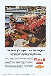1962 Chevrolet Nova 4 Door Station Wagon Red Vintage Ad