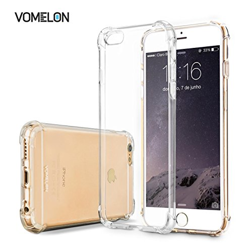 iPhone 6/6S Case, Slim Crystal Clear Bumper Cover Durable Shockproof Skin for Apple iPhone 6 6S (Galaxy S3 No Contract T Mobile compare prices)