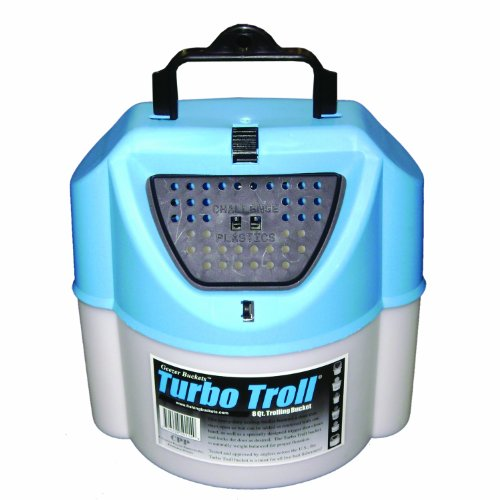 Challenge 50114 Turbo Troll Bait Bucket, 8 Quart,