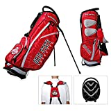 Golf Bag with Stand Ohio State University NCAA Fairway Featuring Team Colors and Logo with Integrated Top Handle, Pockets and Holders, Perfect Use for Outdoor