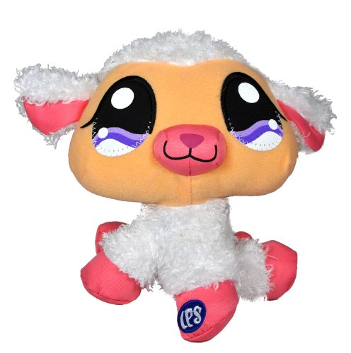 Buy Low Price Hasbro Littlest Pet Shop Collectible 6 Inch Tall Pet Plush Figure – White Lamb (B004L967R6)