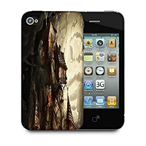 Snoogg Haunted Mansion 2691 Designer Protective Back Case Cover For Apple Iphone 4