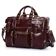 Leathario Mens Leather Laptop Bag, Le…