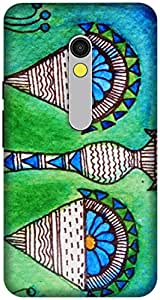 The Racoon Lean printed designer hard back mobile phone case cover for Motorola Moto X Play. (Libra Love)