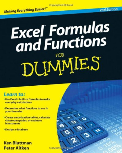 Excel Formulas and Functions For Dummies (For Dummies (Computer/Tech))