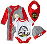 Top Gear Unisex Baby 4 Piece Starter Clothing Set