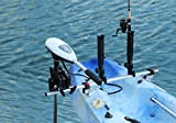 Brocraft Kayak Trolling Motor Mount Universal + two Rocket Launcher rod holder