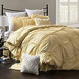 Lush Decor Bianca 4-Piece Comforter Set, Full/Queen, Yellow