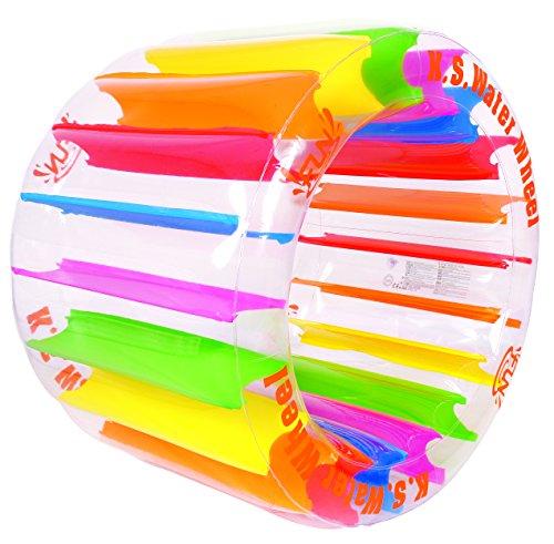 Balance-Living-Inflatable-Kids-Water-Wheel-Pool-Toy-48-Diameter