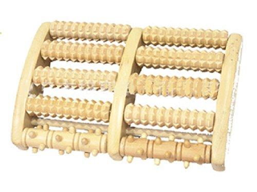 足裏 マッサージ器 フットマッサージ器 心地良い刺激 ツボ押し 木製ローラー リラクゼーション 滑らない ストッパー付