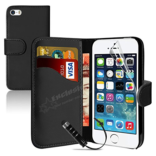 mobileconnect4u-black-pu-leather-wallet-flip-case-for-iphone-5-5s-with-screen-protector-and-stylus