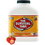 Survival Tabs - 15 Day Survival Food Supply - Gluten Free and Non-GMO 25 Years Shelf Life (180 Tabs - Strawberry)