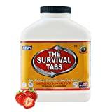 Survival Tabs 15-Day Prepper Food Replacement for editorial assistant Emergency Food Supply Gluten Free and Non-GMO - Strawberry Flavor