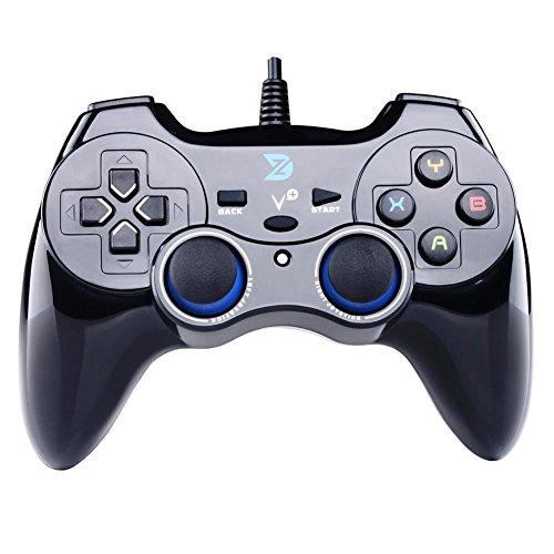 Zhidong V Plus Pieno Vibrazione Feedback USB Wired Gamepad Joystick per Windows XP/7/8/8.1/10 Steam Games & Android & PlayStation 3 (PS Architettura & 360 Motore) - Non sostenere la Xbox 360