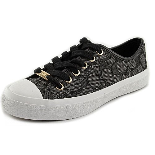 coach-empire-womens-signature-sneakers-shoes-low-black-size-8