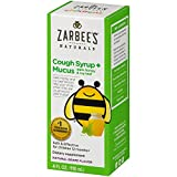 Zarbee's Naturals Children's Cough Syrup + Mucus with Dark Honey, Natural Grape Flavor, 4 Fl. Ounces