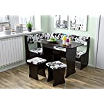 FIJI Kitchen Nook Dining Table Set L-Shaped Storage Bench