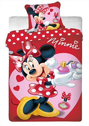 Mickey and Minnie Mouse in New York Single Fitted Sheet 100/% Cotton