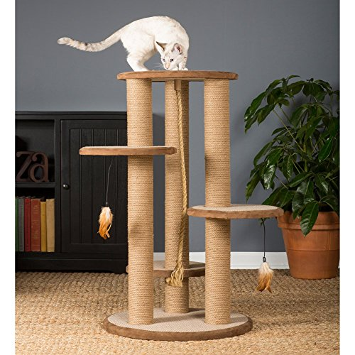 Prevue Pet Products Kitty Power Paws Multi-Platform Posts with Tassel Toys,