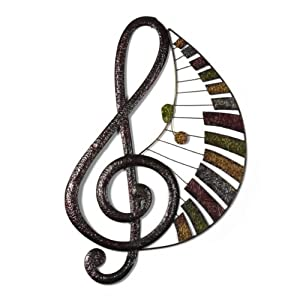 Amazon.com - Elements Patchwork Music Note Metal Wall ...