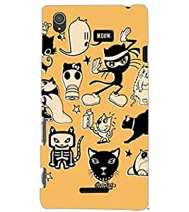 SONY XPERIA T3 CARTOONS Back Cover by PRINTSWAG