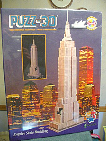 buy low price milton bradley puzz 3d empire state building b000njha24 puzzle toy mart. Black Bedroom Furniture Sets. Home Design Ideas