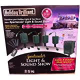 Bluetooth Holiday Lighshow with Sound Christmas Outdoor Display for iPhone and Android