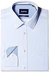 Blackberrys Men's Formal Shirt (8907196543354_MSPTC63UBBN12BPQ_44_Ultramarine)