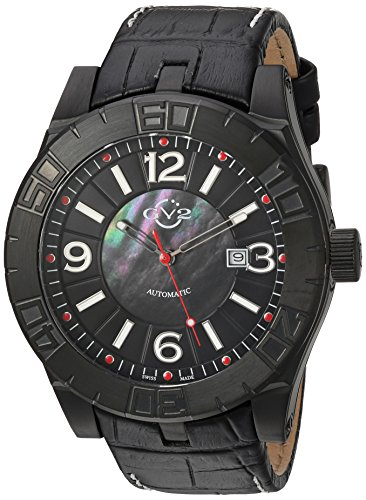 GV2-by-Gevril-Mens-La-Luna-Automatic-Stainless-Steel-and-Leather-Casual-Watch-ColorBlack-Model-8003