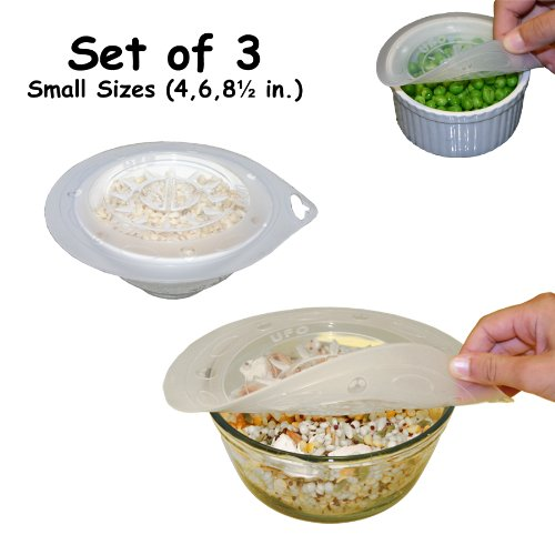 Simple Ecology Universal Silicone Lids - Ufo Set Of 3 (4, 6 And 8.5 In.)