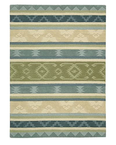 Nourison India House Rug, Blue Green, 8' x 10' 6""