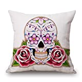 The Rose Skull Pillow Shams Of ,18 X 18 Inches / 45 By 45 Cm Decoration,gift For Saloon,kids Boys,lounge,floor,lover,christmas (twin Sides)