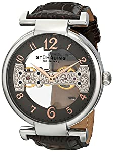 Stuhrling Original Men's 667.02 Legacy Analog Display Mechanical Hand Wind Brown Watch