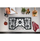 "GE CGP650SETSS Cafe 36"" Stainless Steel Gas Sealed Burner Cooktop"