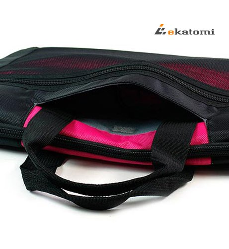 [Seal] MAGENTA / HOT PINK - Common 12-inch Notebook Case / Laptop Bag for Acer 11.6 Aspire V5-131-2449 PC. Extra Ekatomi screen cleaner