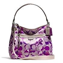 Buy Coach 23957 Daisy Purple Kaleidoscope Print Convertible Hobo Cross-body  208c8b5d77b37
