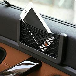 Universal Car Seat Side Back Net Storage Bag Phone Holder Pocket Organizer (Big) For Toyota Innova
