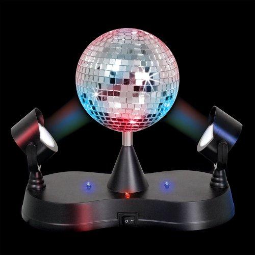 "Rhode Island Novelty 5"" Disco Led Mirror Ball Party Light"