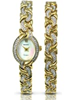 Sekonda Women's Quartz Watch with Mother of Pearl Dial Analogue Display and Gold Bracelet 4910G.08