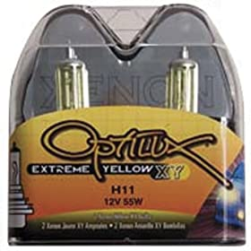 Optilux H71071132 XY Series H11 12V/55W Xenon Yellow Halogen Bulb Set