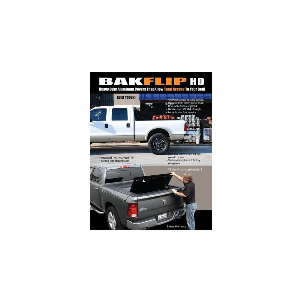 2010 2011 Ford F150 Raptor Ext Cab/Super Crew Tonneau Cover   BAK Industries Bakflip HD 35309F HARD FOLDING TONNEAU COVER