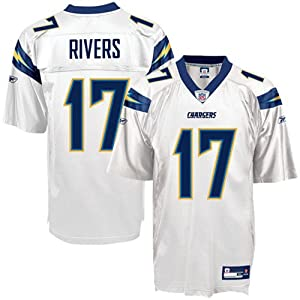 Reebok San Diego Chargers Philip Rivers Replica White Jersey by Reebok