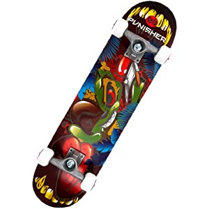 Buy Punisher Skateboards Ranger 31-Inch Double Kick Concave Complete Skateboard by Punisher Skateboards