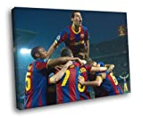 H5V1424 Sergio Busquets Barcelona Spain Football Soccer Sport 20x16 FRAMED CANVAS Print