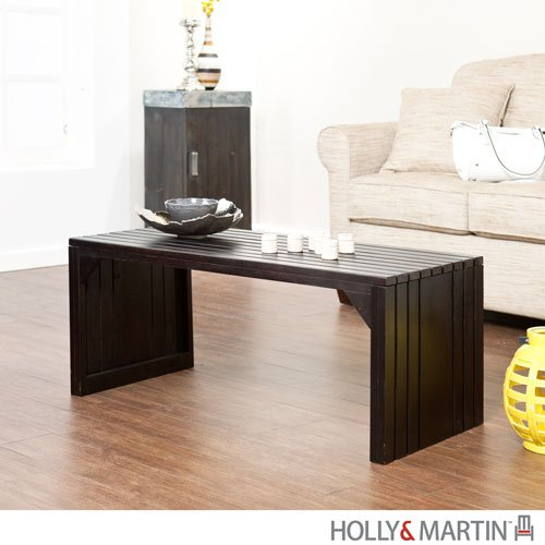 Holly & MartinTM Sabine Slat Bench/Table - Black