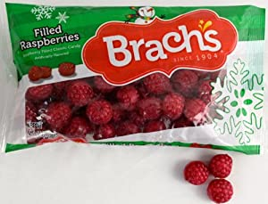 Brach's Red Raspberries Filled Classic Old Fashioned Hard Candy with Raspberry Filling Inside 9.5 Oz. (2 Pack)