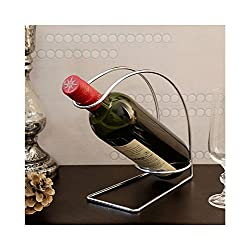 Disha Chrome Plated Mild Steel Wine Server, Chrome