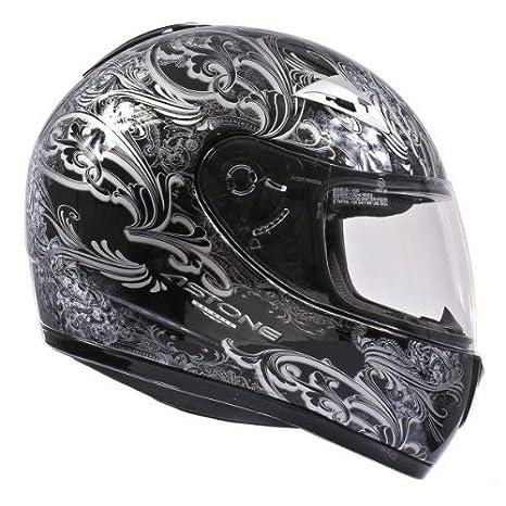 Casque moto intégral ASTONE GTO GRAPHIC LE BARON - Noir / Gris - Taille L