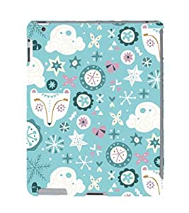 EPICCASE sky blue Mobile Back Case Cover For Apple Ipad 2/3/4 (Designer Case)