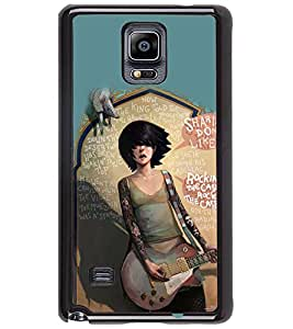 PRINTSWAG GUITAR GIRL Designer Back Cover Case for SAMSUNG GALAXY NOTE 4